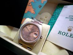 A gents stainless steel, salmon dial Rolex 'DateJust' circa 1999.