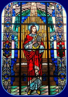 saint cecilia vitral - Google Search