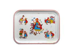 Vintage Little RED RIDING HOOD Tin Tray by sushipotvintage on Etsy