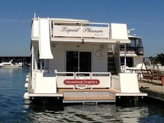 Houseboatgraphicsstripingdecalspreliminary Vinyls We And - Custom designed houseboat graphics