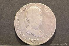 2 REALES 1830 J.B SEVILLA FERNANDO VII VARIANTE SOBRE FECHA 1829 PLATA ESPAÑA