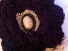Purple and Linen Headband by CraftsByEmleeRuth on Etsy, $14.00
