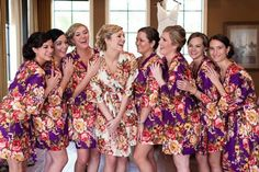 Bridesmaid Robes// Wedding Party Gift/ Bridal Party Robes/ Bridesmaids Gifts/ Set of 3 Robes Bridal Party Robes, Gifts For Wedding Party, Bridal Gifts, Wedding Ideas, Bridesmaid Robes, Bridesmaids, Purple And Black, Wedding Planning, Trending Outfits