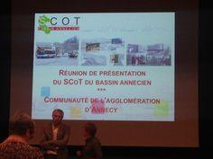 Réunion de présentation du SCOT du Bassin annécien aux élus de l'agglomération d'Annecy, lundi 20 octobre 2014.