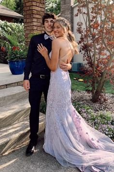 2021 mermaid lavender tulle long prom dress with train and lace up back vp6959 by VestidosProm, $162.25 USD