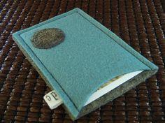 ID Credit card Business card case holder handmade blue grey deluxe eco friendly Wool Felt made in Germany avant garde zen chic