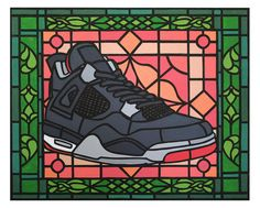 Air Jordan 4 by Boniface Icon  illustration Shoe Art e4f42cca61