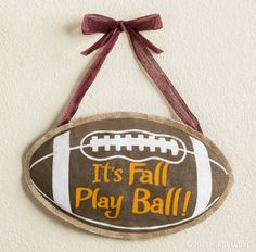Football season is around the corner, are you ready? Dress up your tailgate decor with a ready-to-hang burlap piece.