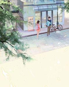 Tặng đeeeeeee Anime Love Couple, Couple Cartoon, Couple Art, Cute Anime Couples, Couple Illustration, Graphic Illustration, Aesthetic Art, Aesthetic Anime, Wattpad Background