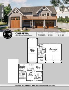 This excellent garage door design is an extremely inspiring and impressive idea Rv Garage Plans, Garage Plans With Loft, Garage Apartment Plans, Garage Apartments, Garage Ideas, Door Ideas, Above Garage Apartment, Garage Building Plans, Barn House Plans