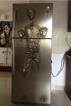 Refrigerator. Han Solo Inside.