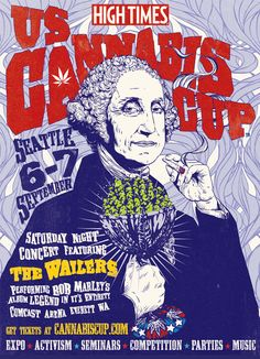 The Cannabis Cup is Coming to Seattle This September! Cannabis Plant, Medical Marijuana, Pineapple Kush, High Times Magazine, Weed Posters, Hippie Bedroom Decor, Weed Art, The Wailers, Posters