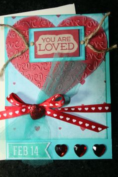 HAND(MADE) VALENTINE'S DAY CARD  NEWLY LISTED ON Ebay