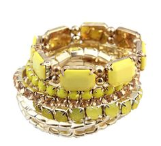 Yellow-Beads-Bracelet stack jump rings or stretch