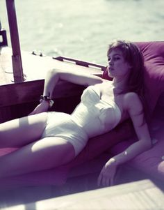 Brigitte Bardot photographed by Philippe Halsman  | Repinned by Temple Towels & Swim, www.templetowels.com