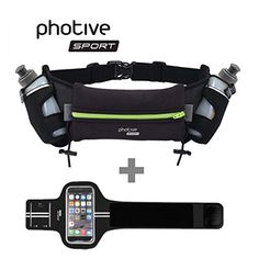 Photive Outdoor Sports Running Exercise Fitness Bundle Kit For iPhone 6 Apple Watch iWatch Includes Lightweight SweatProof Premium Lycra Arm Band For iPhone 6 Only  Hydration Running Belt * You can get additional details at the image link.