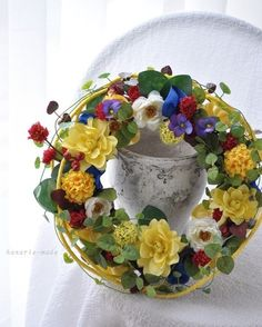 chinoiserie spring:シノワズリ 春 wreath