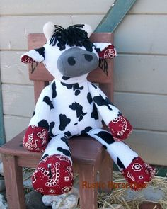 MADE TO ORDER Nutty Nag Cow  Bessy  Plush Cow by RusticHorseShoe