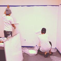 Painting the wall for DMG  #ewave #magento #MagentoAustralia #MagentoSydney  #ecommrce #ecommerceSydney #webdesign