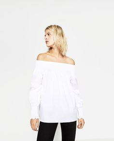 Image 1 of OFF-SHOULDER BLOUSE from Zara