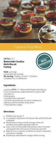 Caprese Pizza Bites