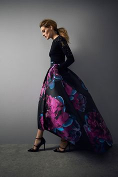 The luxurious Exeter Jacquard Skirt with statement volume is the perfect show stopper for any occasion this season. The skirt has stunning modern appeal thanks to the stunning floral pattern and the dipped high low hem which creates exaggerated fullness and dramatic flaring. Fully lined for the most fluid fit this skirt is fitted with an invisible zip fastening and has a high waistline. With functional pockets and red-carpet appeal, this is a sensational investment for your winter wardrobe…