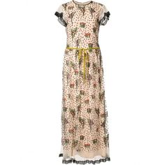 Red Valentino Floral Embroidery Long Dress MR3VA04N