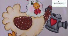 Pintura em tecido galinha country