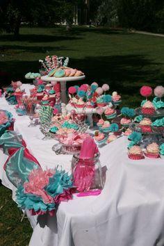 Baby shower dessert table!!
