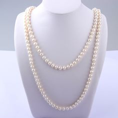 8-9 mm White Pearl Necklace Sterling Silver Heart Clasp Creative pearl necklace with sterling silver heart clasp lock, this fashion and stylish white pearl necklace show your personality. You will be the different one with it!
