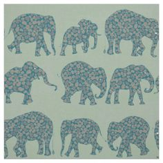 Fun Rows of Paisley Elephants on Green Pattern: up to $27.95 per yard - http://www.zazzle.com/fun_rows_of_paisley_elephants_on_green_pattern-256569910060143351?rf=238041988035411422&tc=pintw