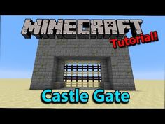 [Tutorial] Minecraft: Poor Man's Castle Gate - YouTube