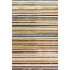 Hand-Loomed Tonya Stripe New Zealand Wool Rug (5' x 8') - Free Shipping Today - Overstock.com - 17117076 - Mobile
