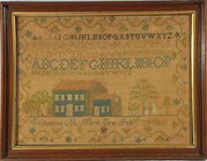 1818 American Sampler, Erie, NY, Stephen & Carol Huber, Old Saybrook, CT