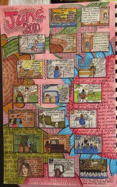 Kelly's Art Journaling: Visual Diary Calendar - June 2010