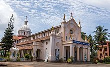 Church of Our Lady of Rosary of Mangalore ( Portuguese : Igreja Nossa Senhora do Rosário de Mangalore ), or Rosario Cathedral is a Roman Catholic cathedral in the Roman Catholic Diocese of Mangalore , dedicated to Our Lady of the Rosary . It was the first Roman Catholic church in the Canara region.  Historically, this was the only parish church in Mangalore reserved for the high-caste Mangalorean Catholics .  It is the oldest church in Karnataka. History The church of Our Lady of Rosary of…