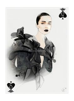 Dot Queen of Spades illustration by Nuno DaCosta