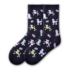 Women's Poodles Black Socks