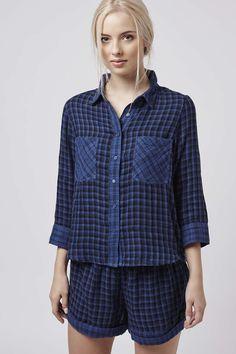 Photo 2 of Reverse Check Pyjama Set