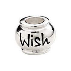 Kera® Sterling Silver 10mm Enameled Wish Expression Bead