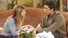 """Rachel Green, played by Jennifer Aniston, and Ross Geller, played by David Schwimmer, made the ultimate will they-won't they relationship for viewers. In 10 seasons of """"Friends,"""" fans saw the couple get together and break up multiple times; they ultimately end up together."""