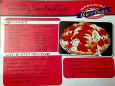 Strawberry Creme French Toast! **Featuring the Strawberry Cream Cheese Butter Braid Pastry!**   Run a fundraiser to get your hands on this and other delicious flavors of Butter Braid Pastries!!  www.labraidfundraising.com