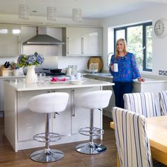 White modern kitchen   Kitchen diner   PHOTO GALLERY   Style at Home   Housetohome.jpg