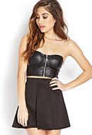 Bombshell Faux Leather Bustier