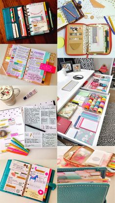 Planner, Filofax, Midori and art journal inspiration! Planer Organisation, School Organization, Life Planner, Happy Planner, Organized Planner, School Planner, Diy Deco Rangement, Day Planners, Smash Book