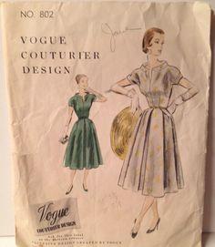 Vogue Couturier 802, ca 1955; Sz 14/Bust 32