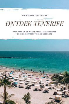 Tenerife: het eiland waar je je op één dag in de groene subtropen, in de ijzige sneeuw én op het zonovergoten strand waant. Thanks to die mega-vulkaan: El Teide. Met zijn immense hoogte deelt hij het eiland op in micro-klimaatjes. En zo kun je dus zonnen, skiën en hiken op één dag. Goed, wat nu (nog meer) te doen en te zien op Tenerife?  #avonturista #tenerife #reizen #canarischeeilanden #eilanden #strand #vulkaan #bergen #ontdek Tenerife, Good Vibe, Canary Islands, Beautiful Islands, Travel Tips, Spain, Around The Worlds, Beach, Water