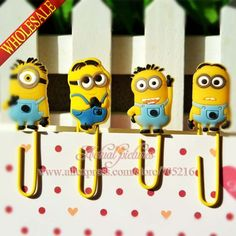 Good Despicable Me/ Minions Paper Clips /Bookmarks for Book Page HolderSchool/Office Supplies Stationery Minion Movie, Minions Despicable Me, My Minion, School Office, Office And School Supplies, Minion Gifts, Minion Rush, Minions Fans, Bookmarks For Books