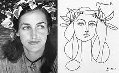 francoise gilot by picasso pen and ink original fake copy