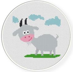 FREE for April 5th 2014 Only - Goat with Clouds Cross Stitch Pattern
